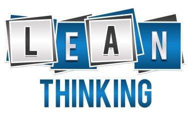 Lean Thinking Blue Silver Blocks