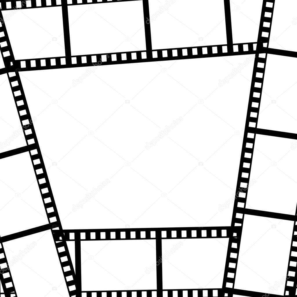 Film strip frame. Vector illustration — Stock Vector ...
