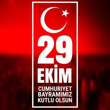 29 October Cumhuriyet Bayrami, Republic Day Turkey, Graphic for design elements.