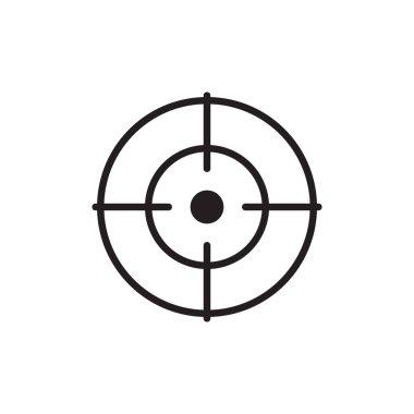 Target icon, Focus icon, line vector symbol icon