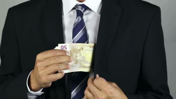 Euro banknotes, corruption