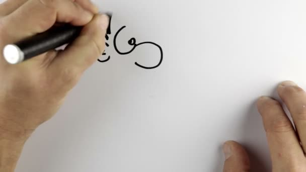 Sketching a cartoon doodle