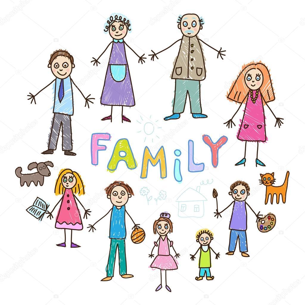 Картинки детские семья