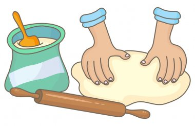 Dough making with rolling pin