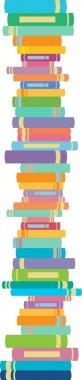 Books in vertical line