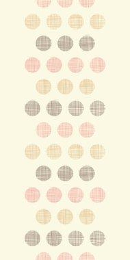Vintage textile polka dots vertical border seamless pattern background