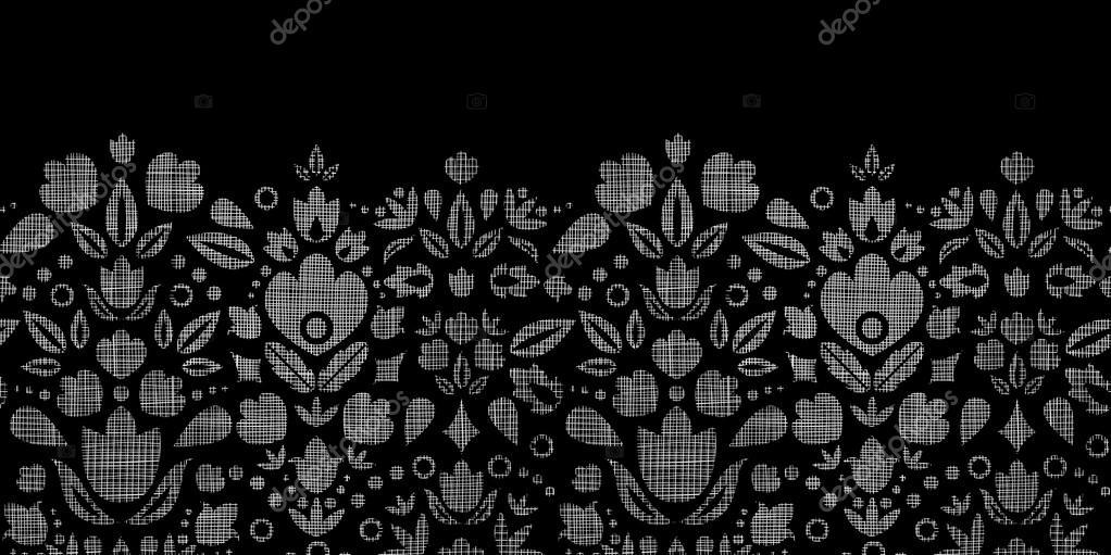 Vektor abstrakte schwarzer spitze zierpflanzen tulpen for Design von zierpflanzen