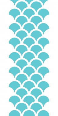 Abstract blue fishscale vertical seamless pattern background