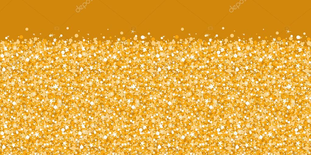 Vector Fondo Dorado Brillo Brillante Textura Frontera