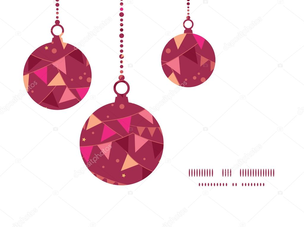 Vector decorations flags Christmas ornaments silhouettes pattern ...