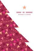 Fotografie Vektor Dekorationen Fahnen Weihnachtsbaum Kontur Muster Rahmen Kartenvorlage