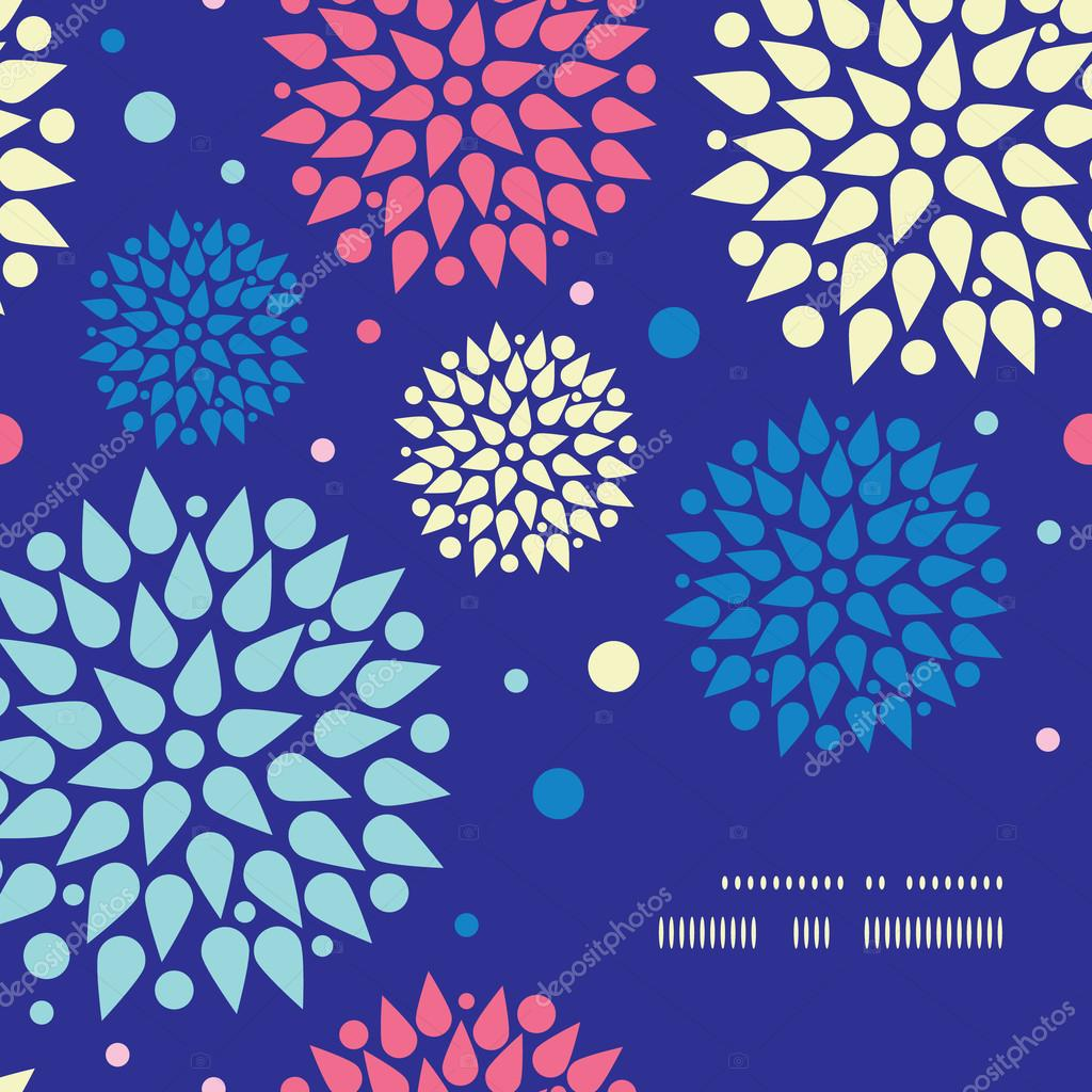 Vector colorful bursts frame corner pattern background