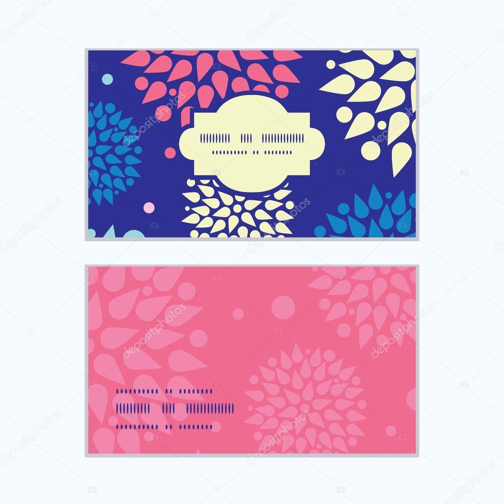 Vector colorful bursts horizontal frame pattern business cards set
