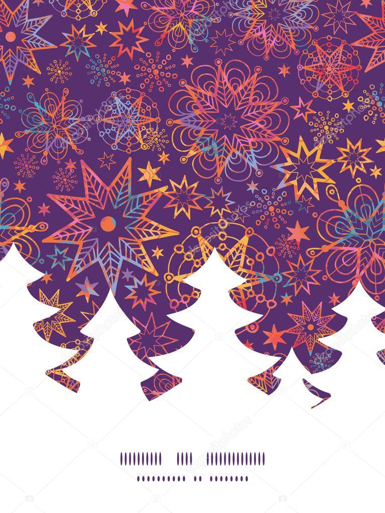 Vector de plantilla de la tarjeta navidad estrellas - Plantilla estrella navidad ...