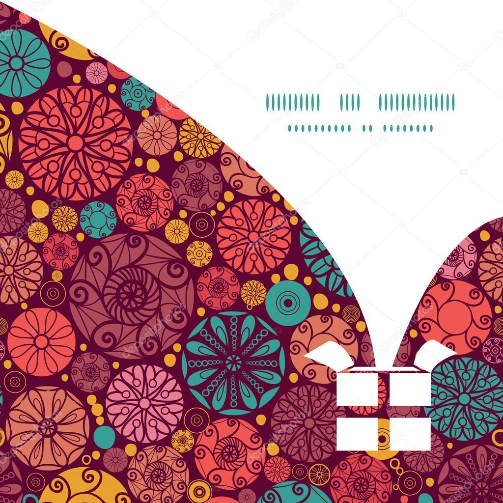 Vector abstracto círculos decorativos Navidad regalo caja silueta ...