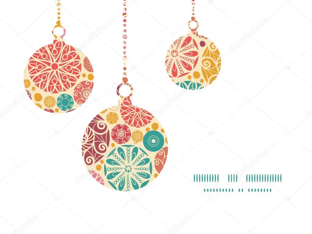 patrn de crculos decorativos abstractos vector siluetas de los ornamentos de navidad plantilla de tarjeta de