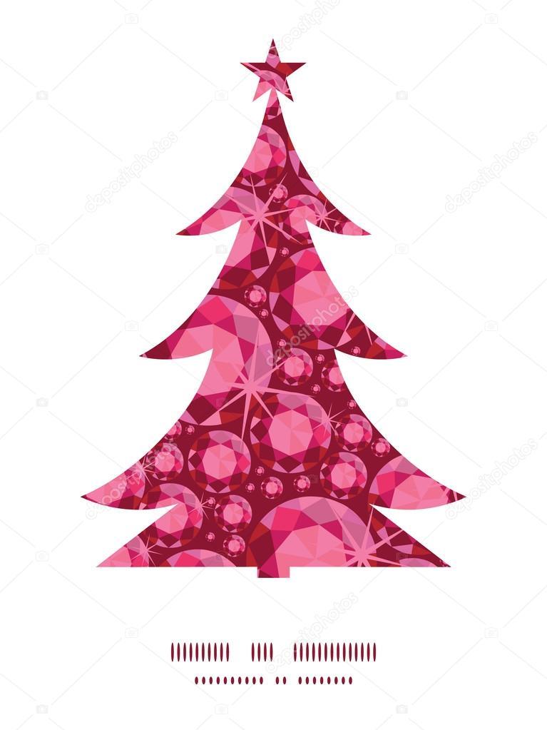 Vektor Rubin Weihnachtsbaum Kontur Muster Rahmen Kartenvorlage ...