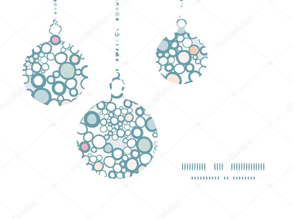 Patrón de burbujas coloridas vector siluetas de los ornamentos de ...