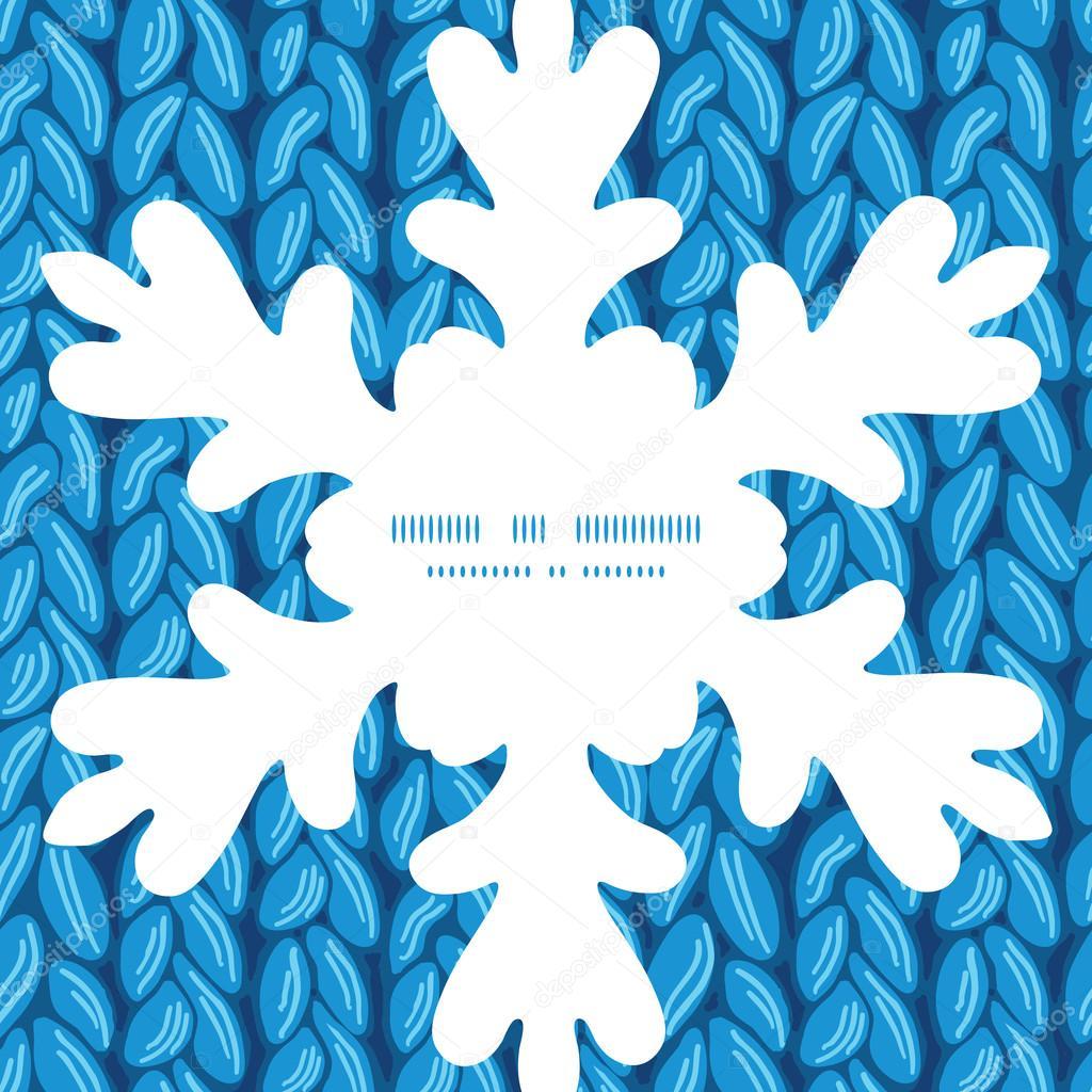 Vector sewater knit tejido textura horizontal Navidad copo de nieve ...