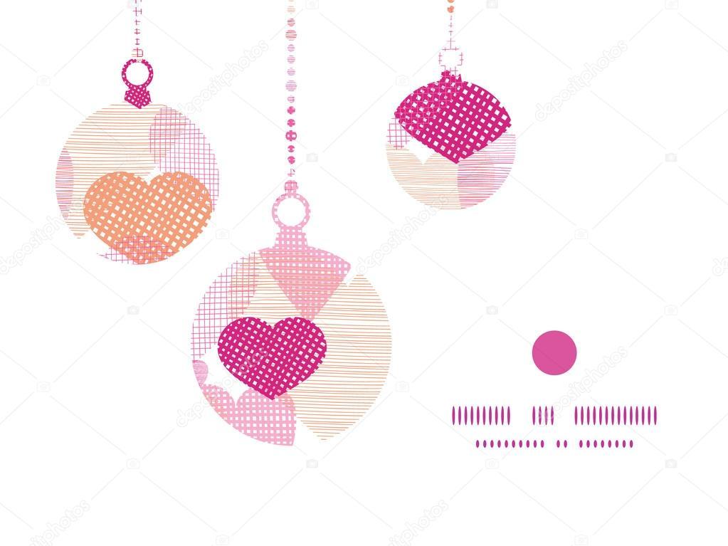 Vektor strukturierter Stoff Herzen Herzrahmen Kontur Muster ...