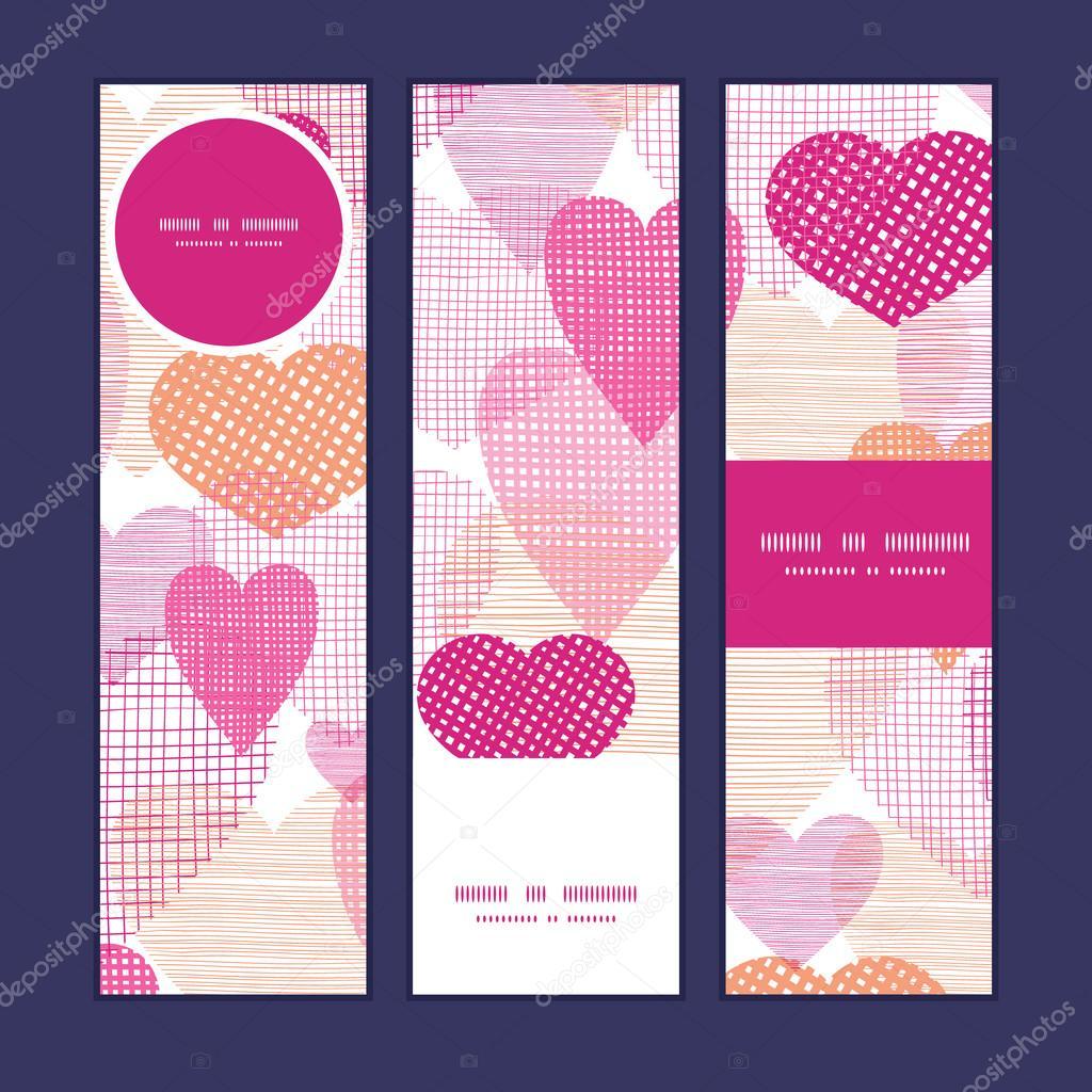 Vector textura tela corazones corazón silueta patrón estructura ...