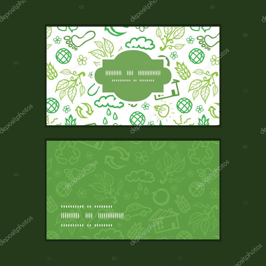Vector ecologia smbolos quadro horizontal padro conjunto de vector ecology symbols horizontal frame pattern business cards set graphic design vetor de oksanciaart reheart Choice Image