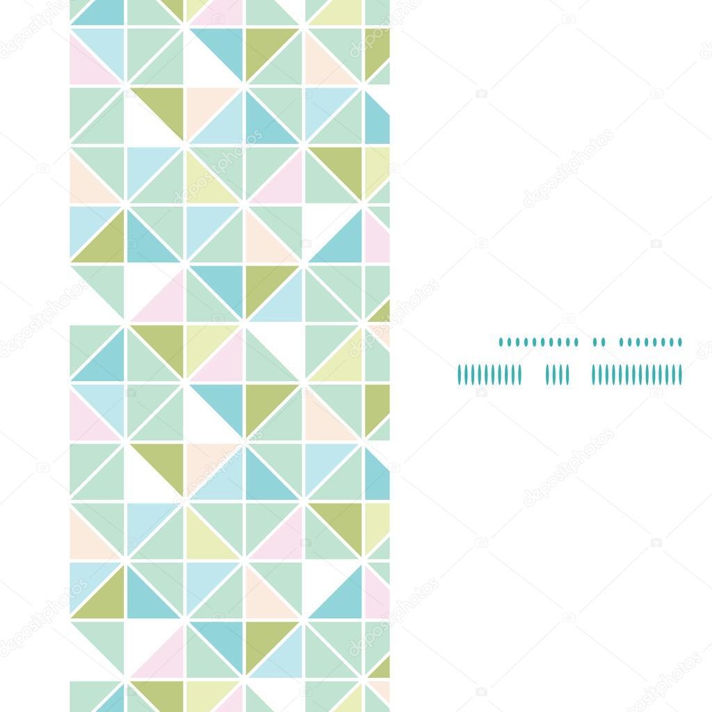 Vector colorido pastel triángulo textura vertical marco sin fisuras ...