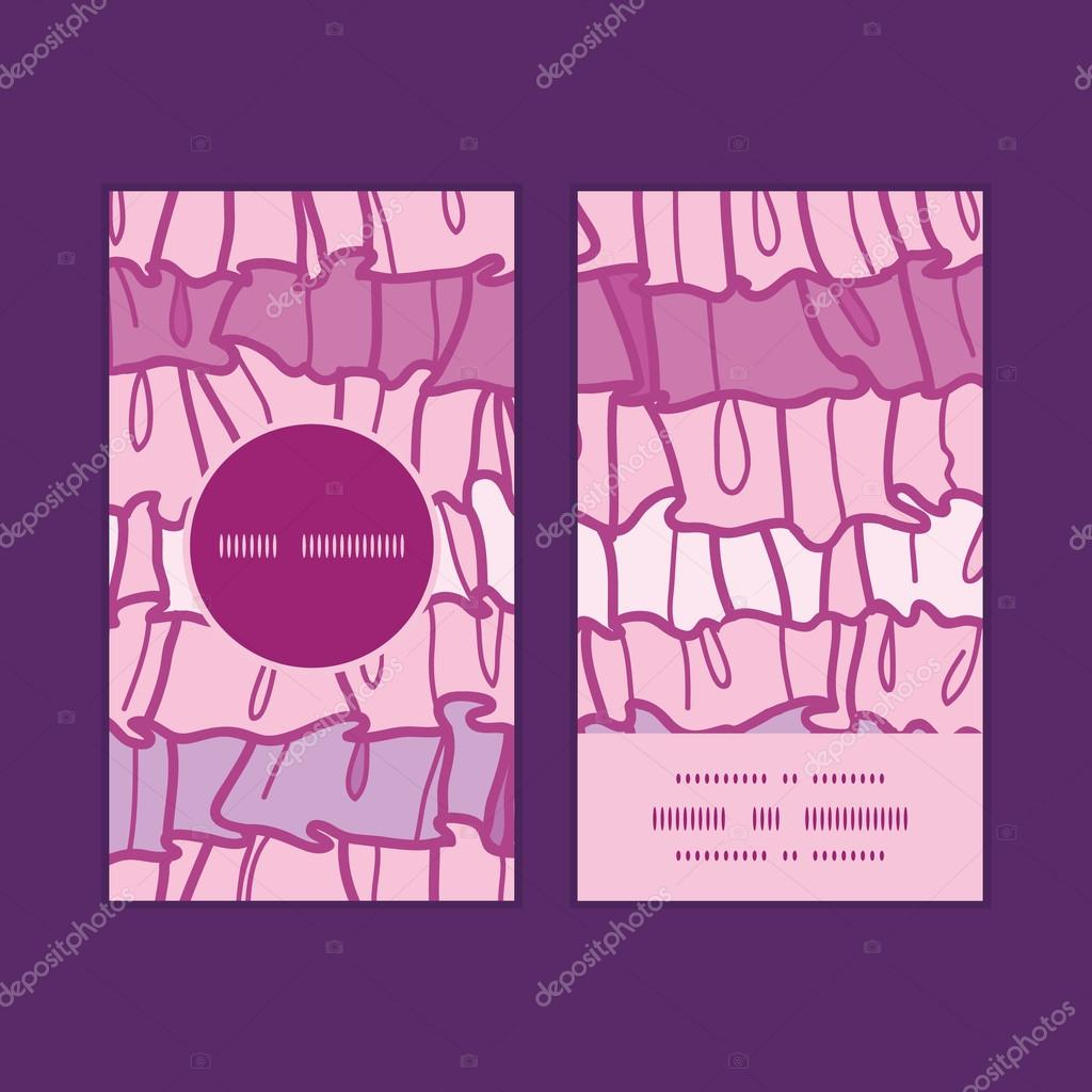 Tissu Rose Ruffle Vecteur Rayures Cadre Rond Vertical Modle Jeu De Cartes Visite Image