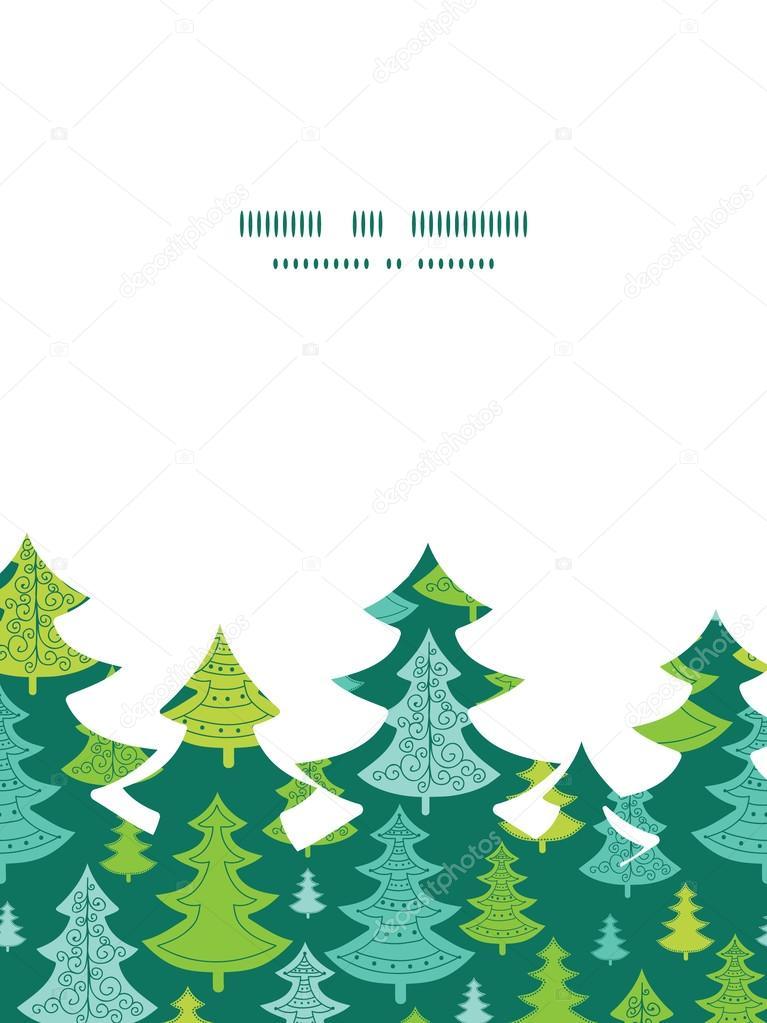 Vectores fiesta Navidad árboles árbol de Navidad silueta patrón ...