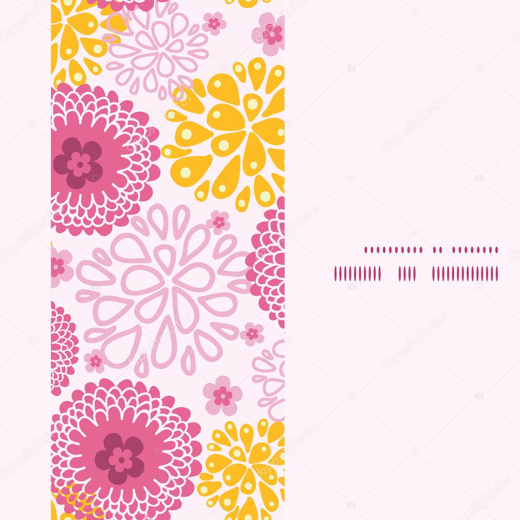 Vector campo rosa flores marco Vertical sin fisuras de fondo ...