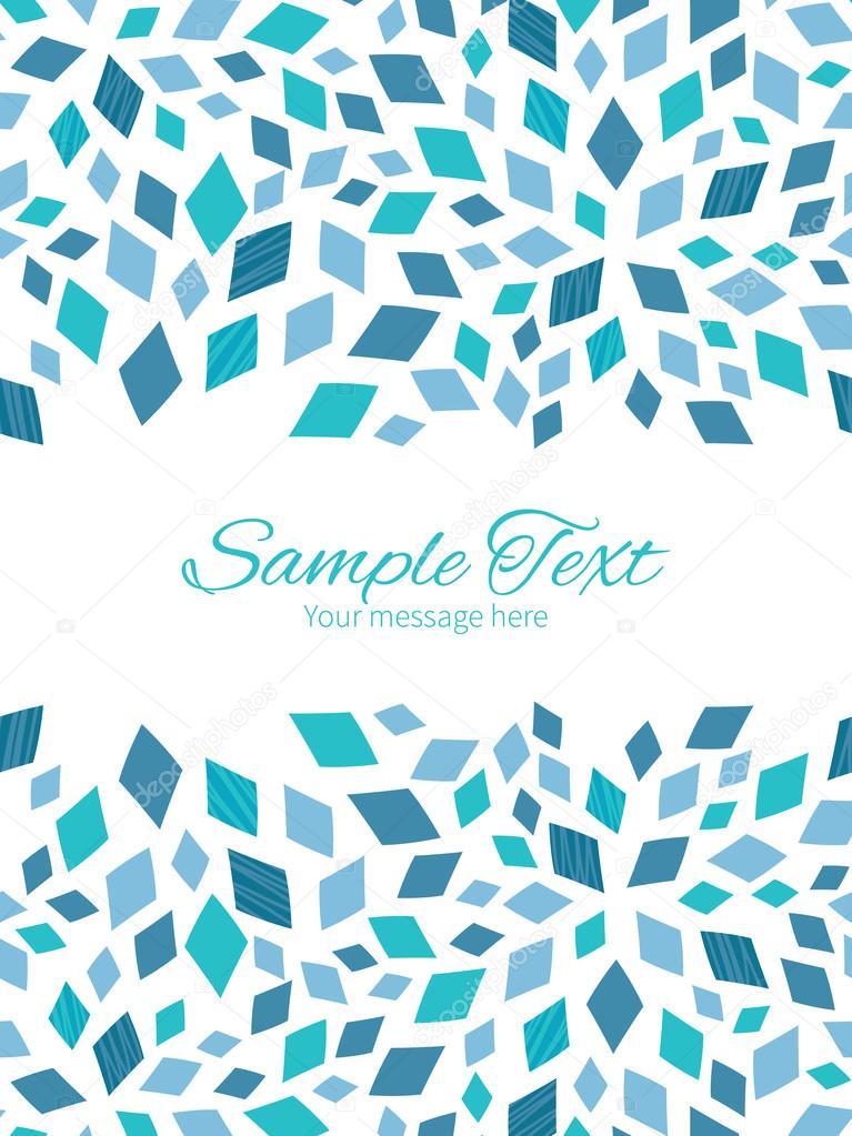 Vector azul mosaico textura vertical doble las fronteras del marco ...