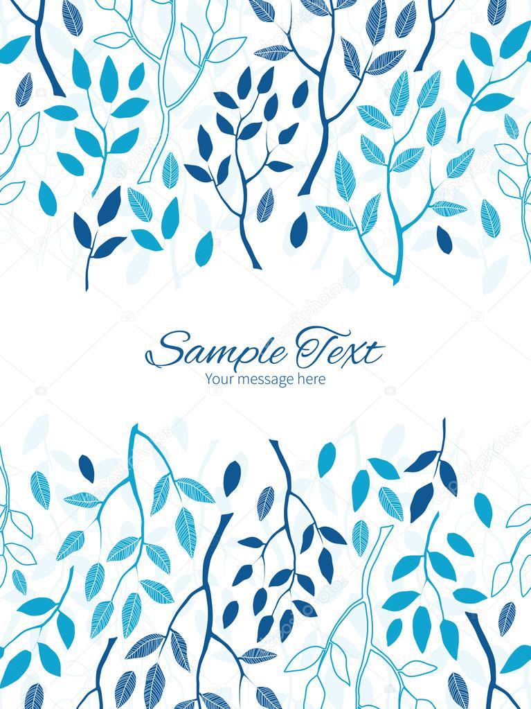 Vector azul bosque vertical doble las fronteras del marco plantilla ...