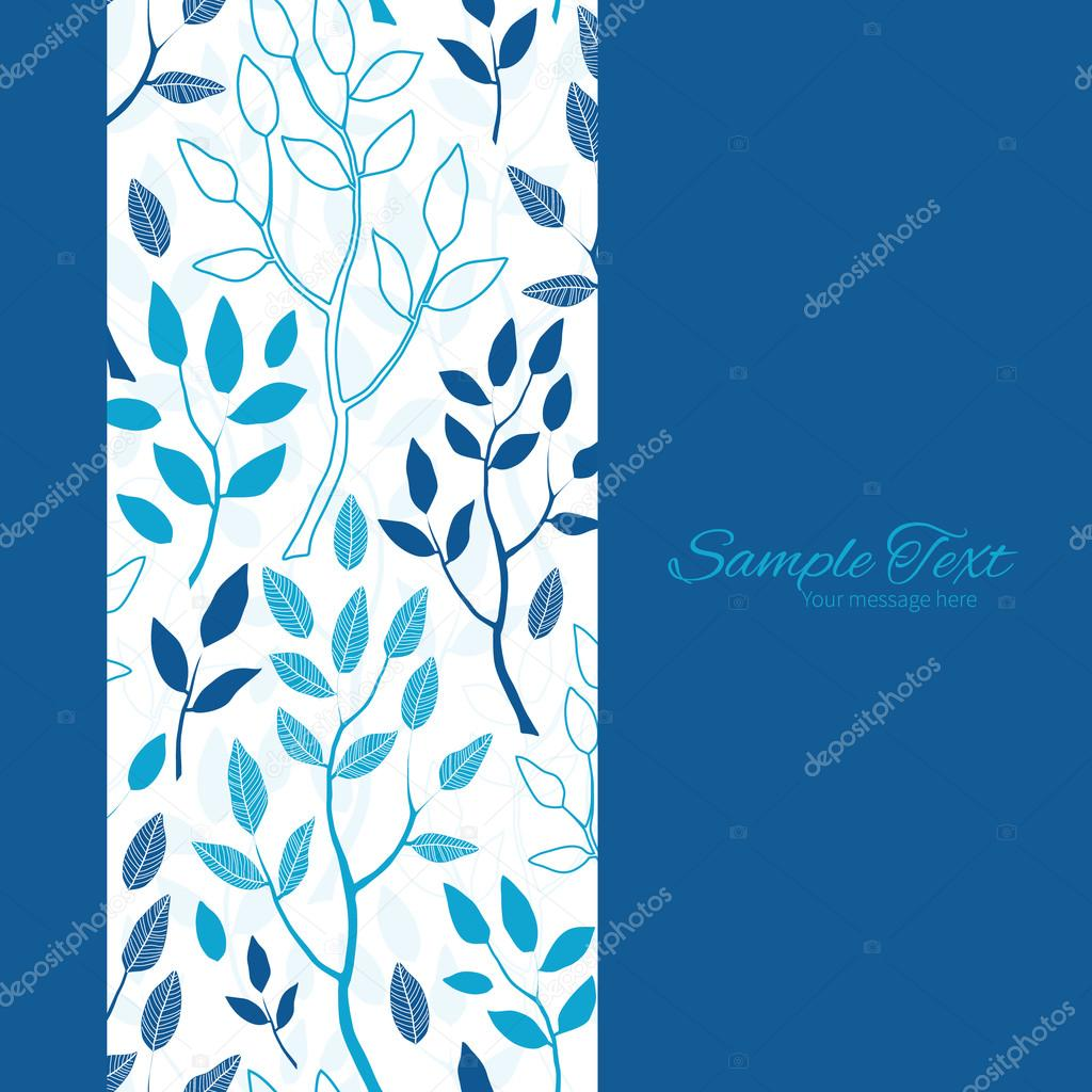 Vector azul bosque marco Vertical de fondo transparente — Archivo ...