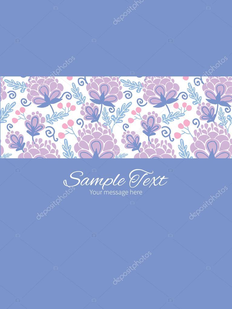 Flores de color púrpura suaves vector plantilla de invitación de ...