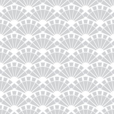 Vector Gray Fans Texture Seamless Pattern