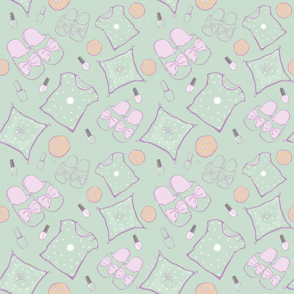 Vector verde pijama fiesta Movie noche de patrones sin fisuras ...