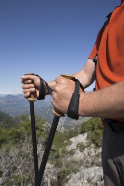 Trekking and nordic walking in the Dolomite.