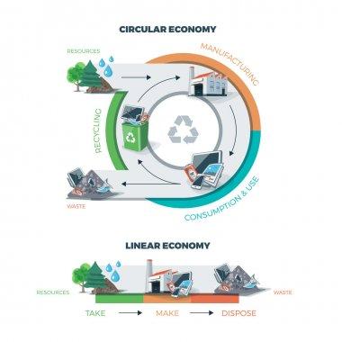 Circular and Linear Economy