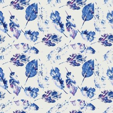 Cute pattern of beautiful prints of leaves