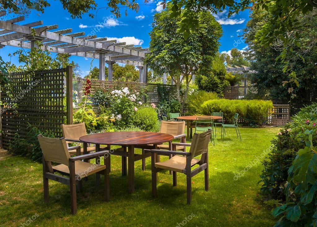 Home backyard garden summer