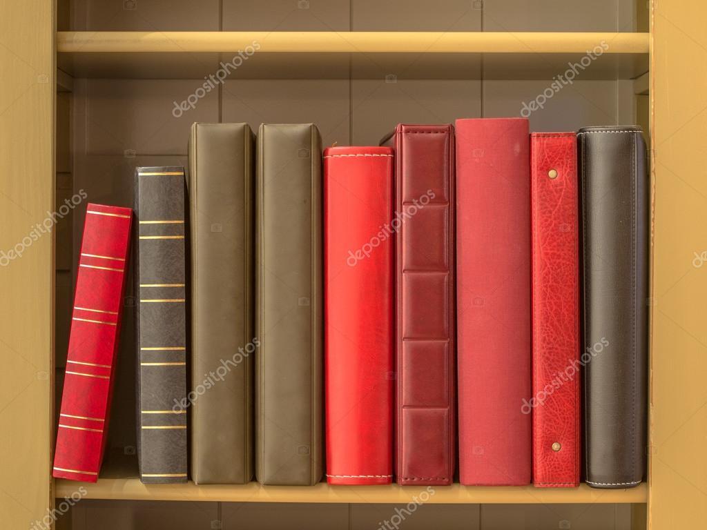 Books In Bookshelf Stock Photo