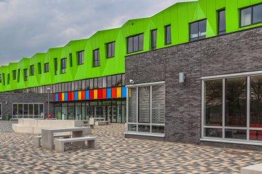 Modern school yard