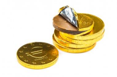 Pile of chocolate money