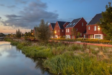 Modern ecological suburban street