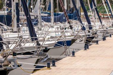 Bows of Sailing Yachts