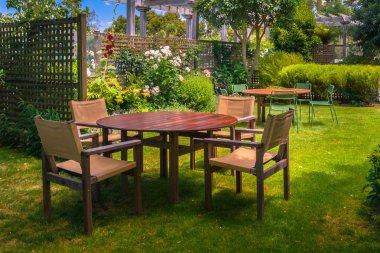 Dining Table set in Lush Garden