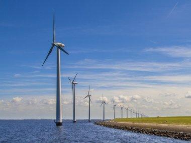 Row of Wind turbines