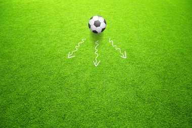 Soccer concept directions of ball movement