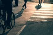Gyalogos és kerékpáros út kereszteződés