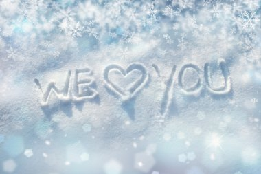 Winter we love you background